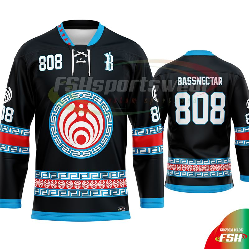 Custom made sublimated reverse ice hockey jersey