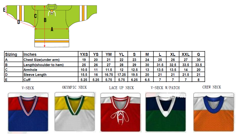 Size chart of ice hockey jersey.png