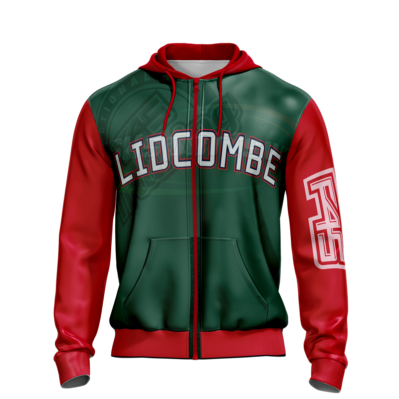 Custom sublimation zip pullover hoodie with or without fleece