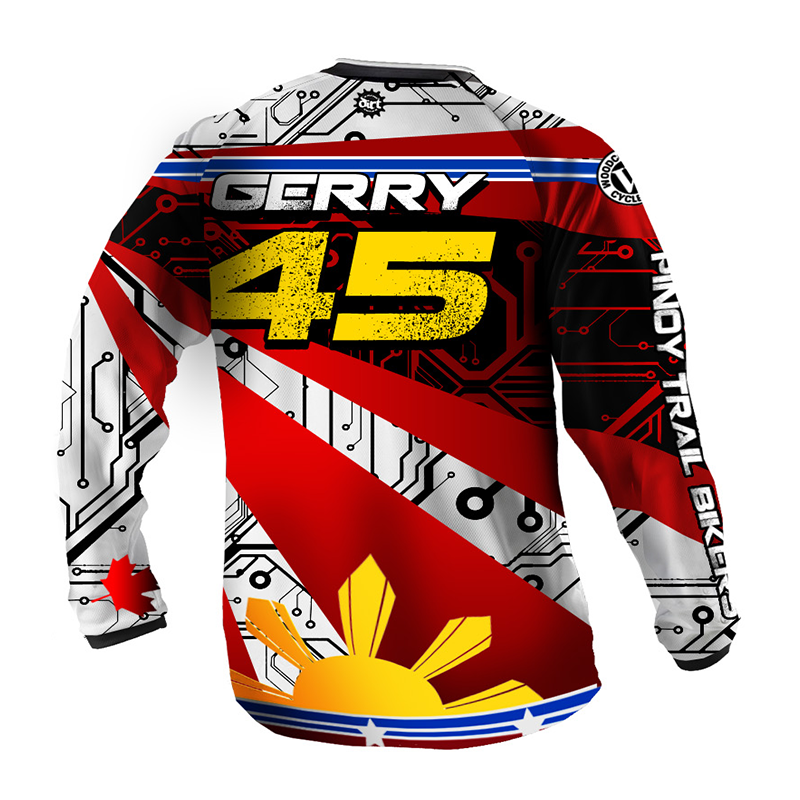 Custom 3/4 sleeve long sleeve mountain bike jerseys mtb cycling downhill jersey