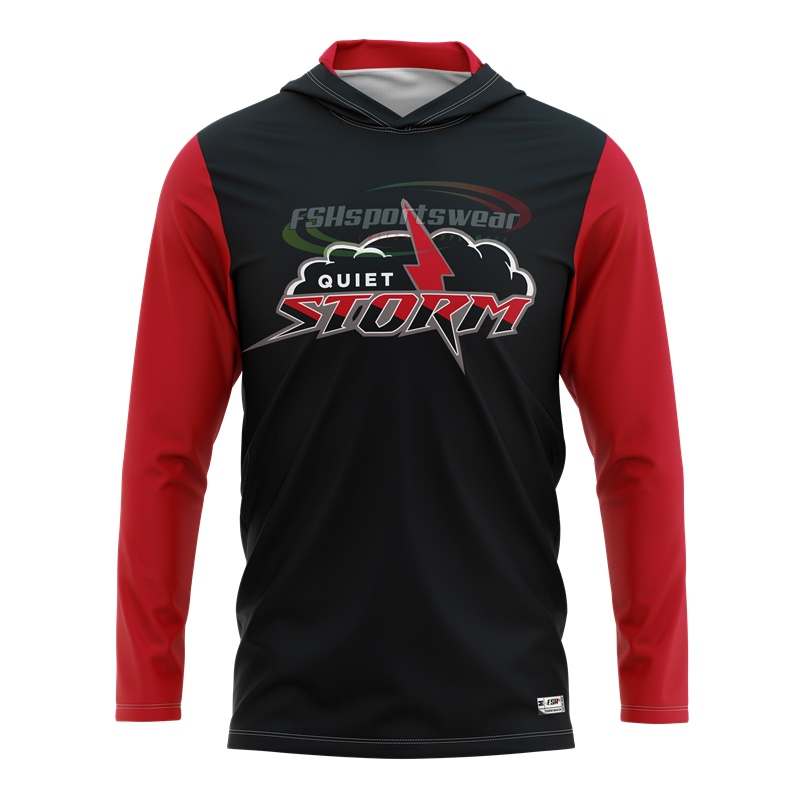 Custom made sublimation print basketball Long sleeve hooded shooting shirts