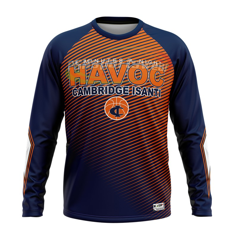 Spring Wholesale long sleeve customized blank basketball shooting shirts