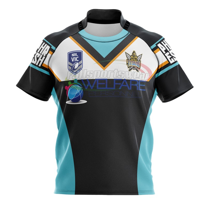 Factory Price Custom Made Rugby Jerseys Short Sleeve Wholesale Sublimation Rugby Shirts
