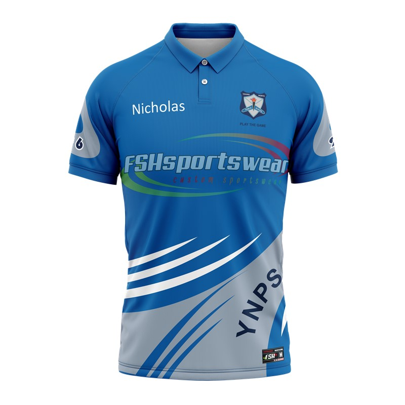 Custom Polo shirt T shirt with sublimation print with customer's size chart