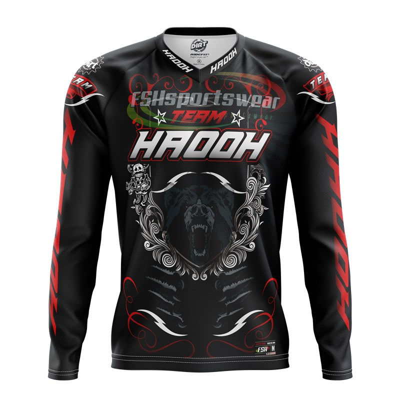 Customized Long Sleeve Mountain Bike Jersey BMX Shirts MTB Downhill jersey