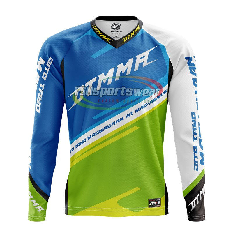 Custom quick dry mountain bike jersey cycling mtb clothes
