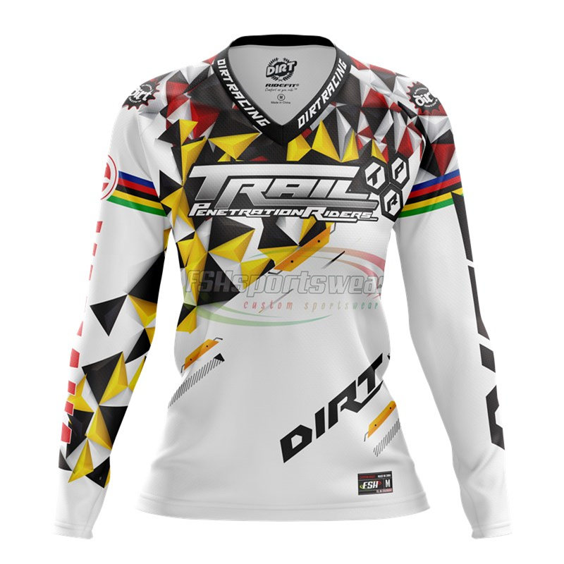 Custom made sublimation print mountain bike jerseys