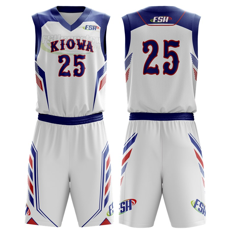 Sublimated wholesale custom basketball jersey and shorts