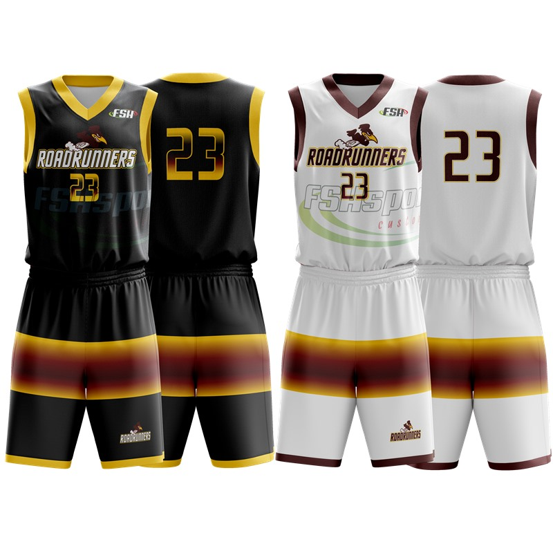 2020 Customized Reverse Basketball Uniforms New Design Basketball sets