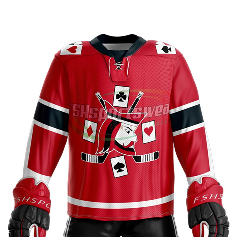 Custom design high quality ice hockey jersey