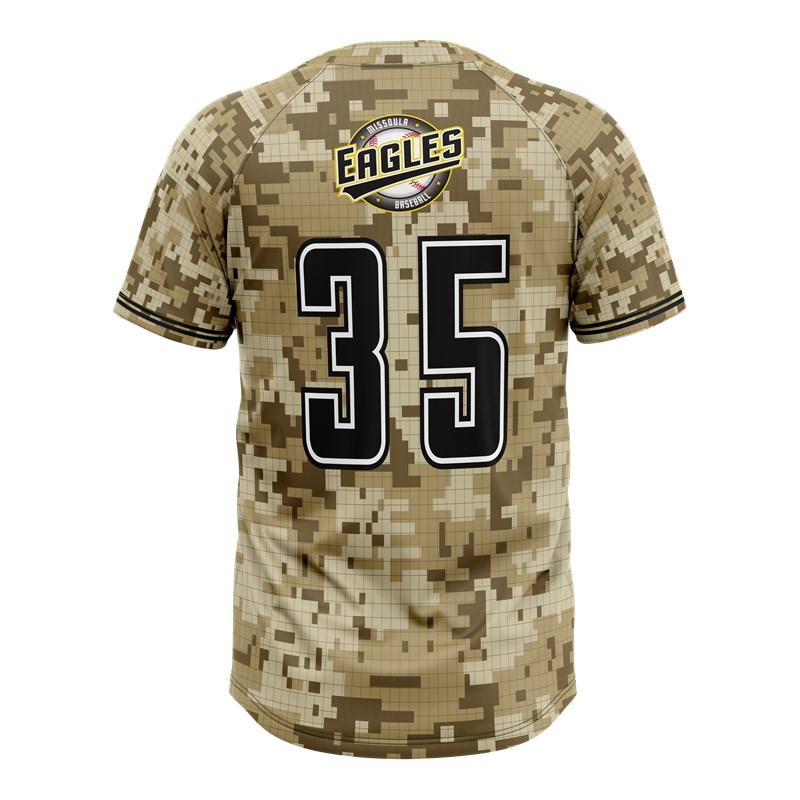 Cutom digital camo baseball jersey sublimated baseball jersey