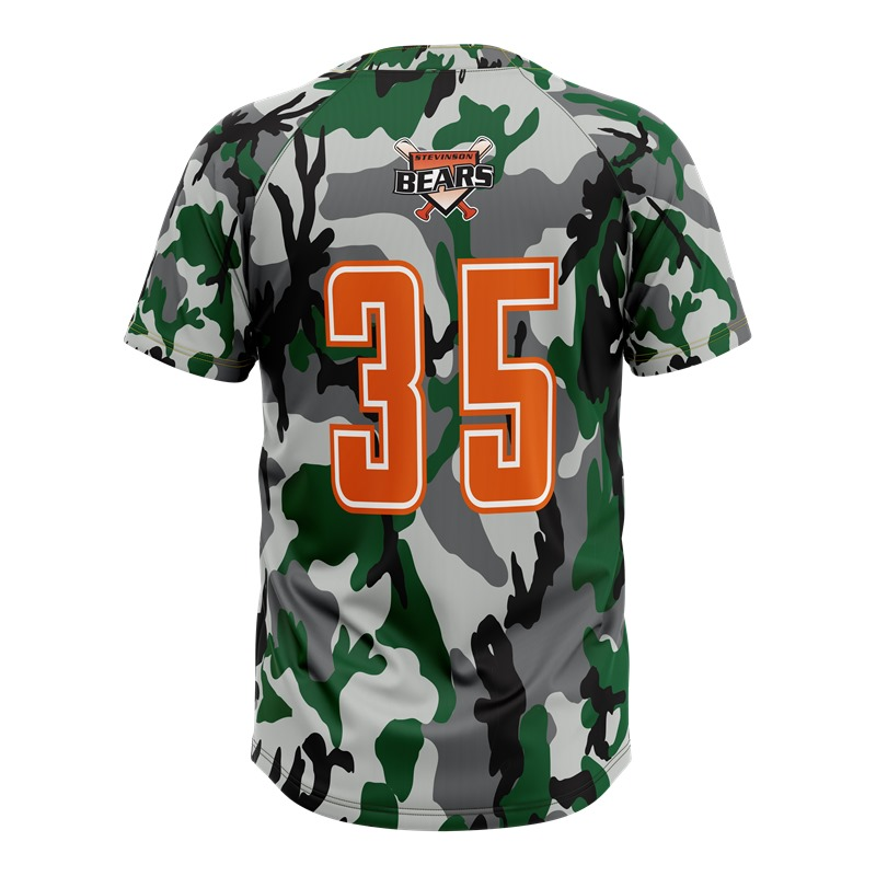 Top quality custom name and number sublimated camo baseball uniform