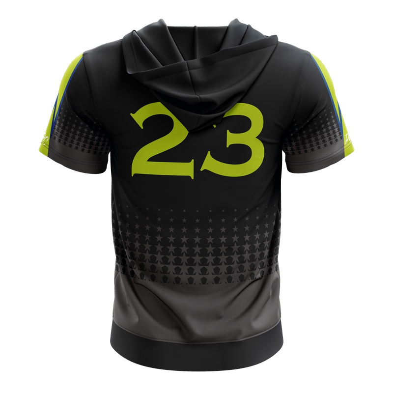 Sublimation basketball training hooded shooting shirt, custom basketball warm up shirt