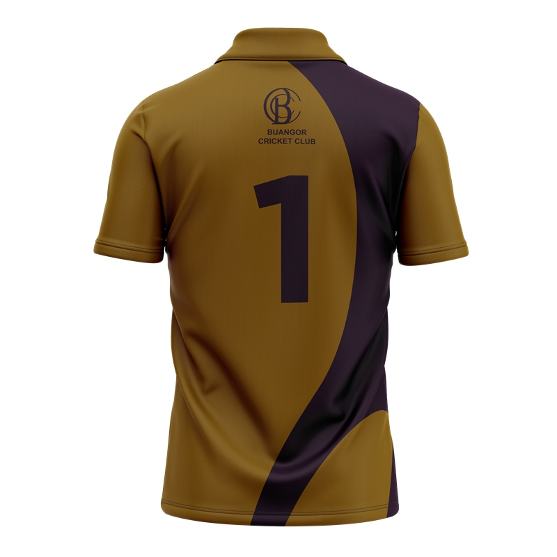 Criket latest customized polo T-shirt / cricket polo t-shirt full sublimation printing OEM