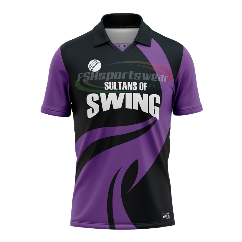 Cricket jersey Short sleeve full sublimation printed sports polo shirts