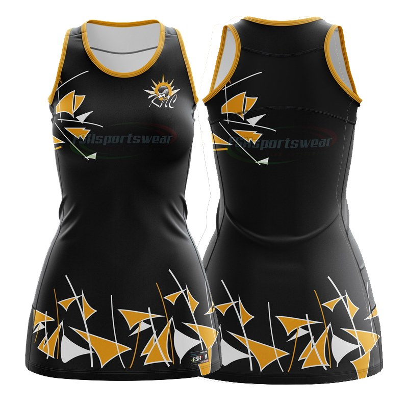 Sublimated custom team netball uniforms/Wholesale high quality collegiate netball dress