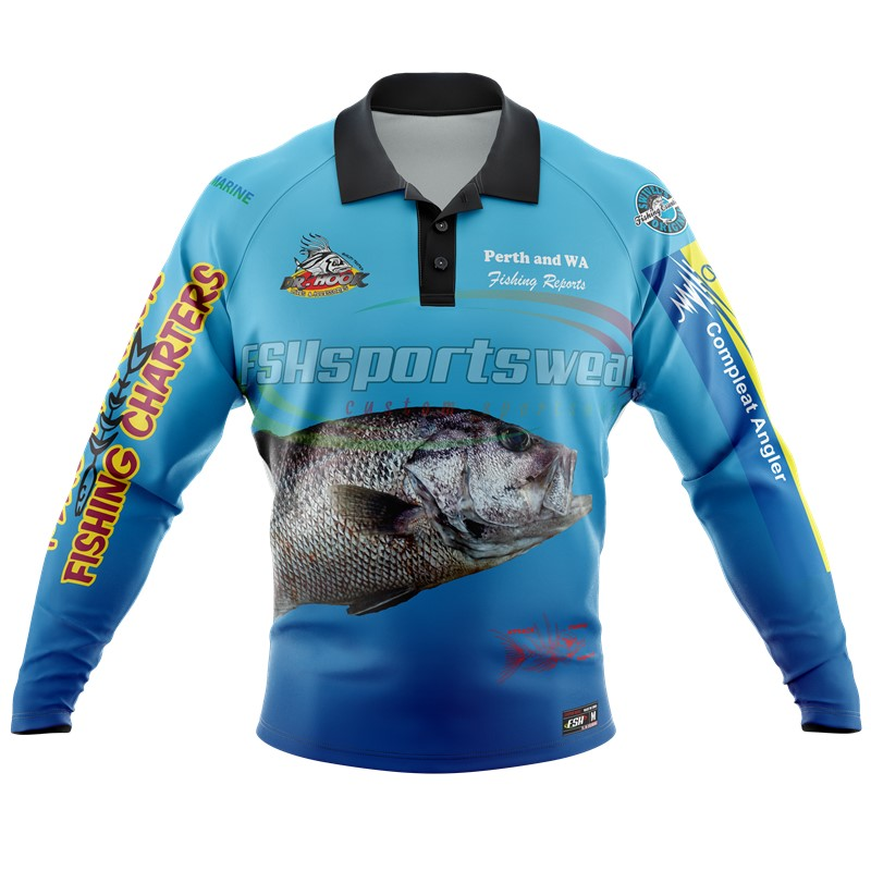 Sublimated Fishing shirt UV resistant fabric OEM service