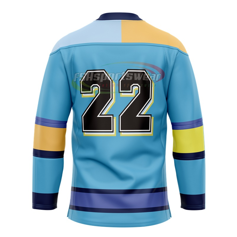 Sublimation print Youth and Adult ice hockey jersey with laces