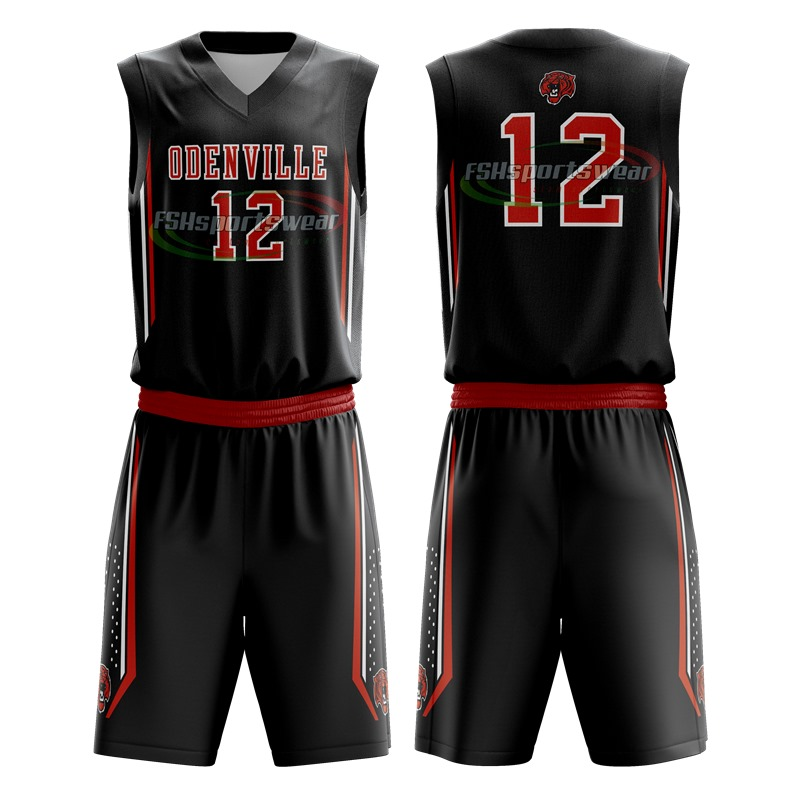 Collegiate basketball uniforms custom made sublimation print basketball jersey and basketball shorts
