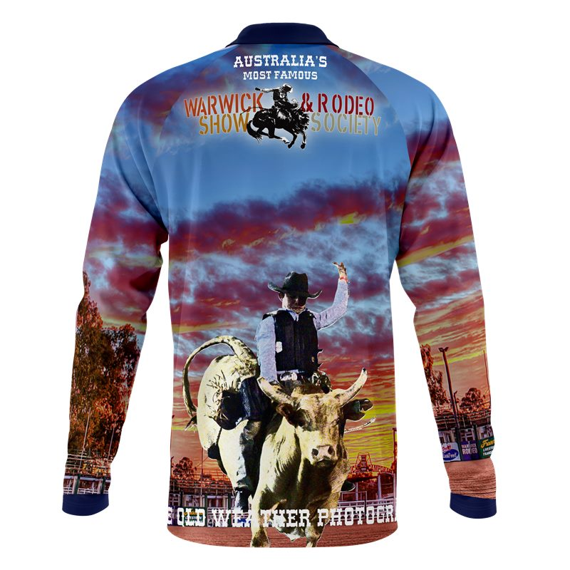 Custom sublimated Rodeo Societ polo shirts