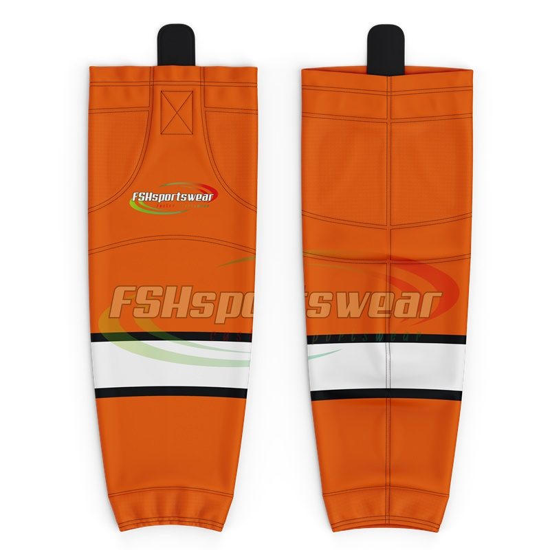 Wholesale high quality sublimation dry fit hockey socks with custom logo