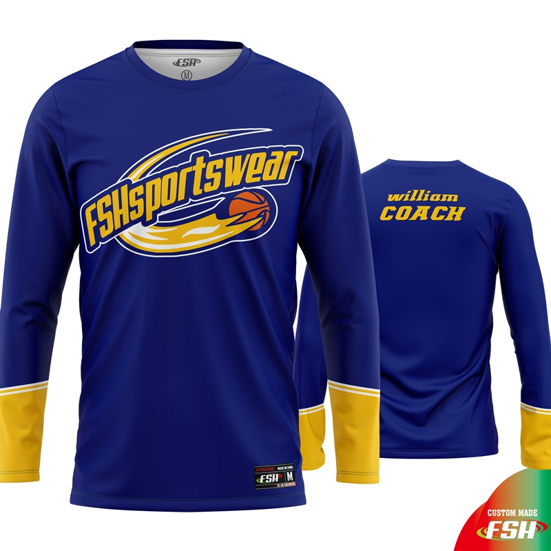 Collegiate long sleeve basketball shooting shirt