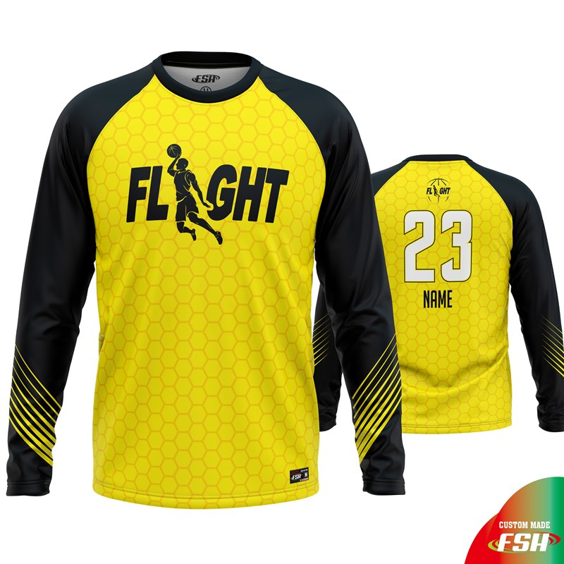 Custom basketball shooting shirt, FARMINGTON FLIGHT shooting shirt