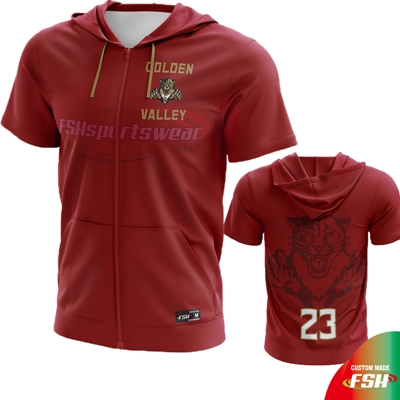 Maroon short sleeve basketball hooded shooting shirt.jpg