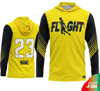 Yellow long sleeve hooded shooting shirt.jpg