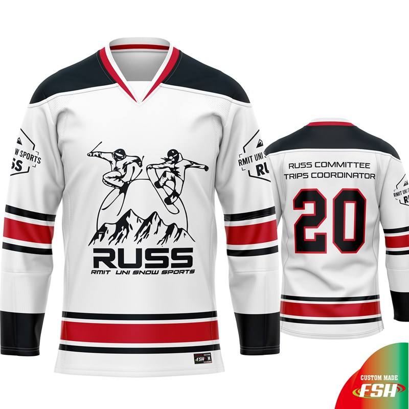 Custom design ice hockey jersey with subilmation print