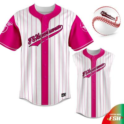 Fast delivery Custom Sublimation Printing Baseball Plain Shirts Blue Baseball Jersey Outfit Mens Sublimation Cheap Price Baseball jersey