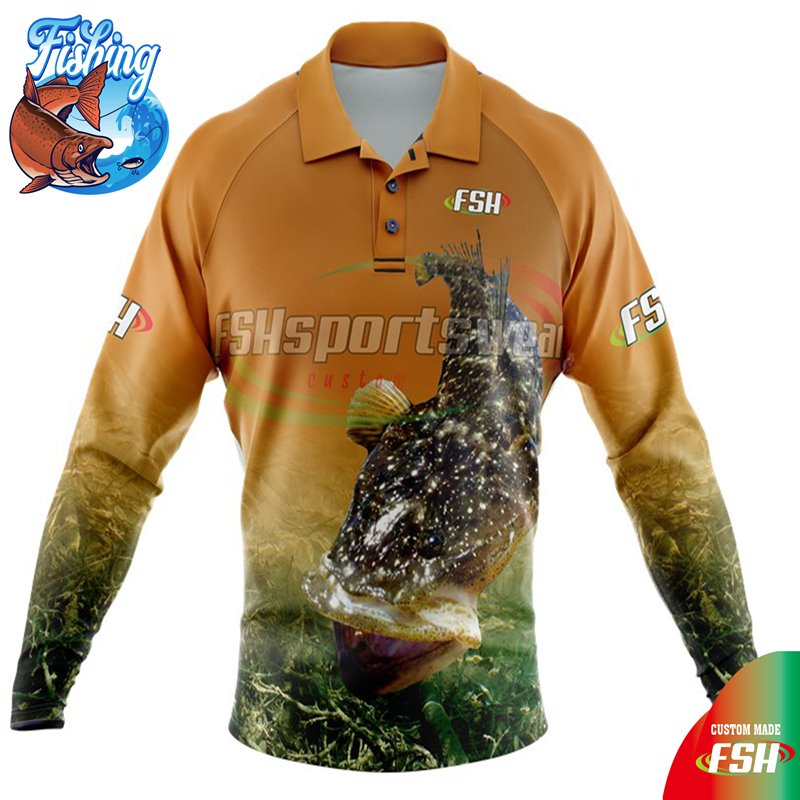 Custom long sleeve fishing shirt sublimated
