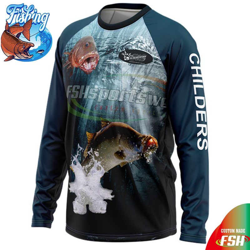 Long sleeve 100% polyester sublimation fishing shirt