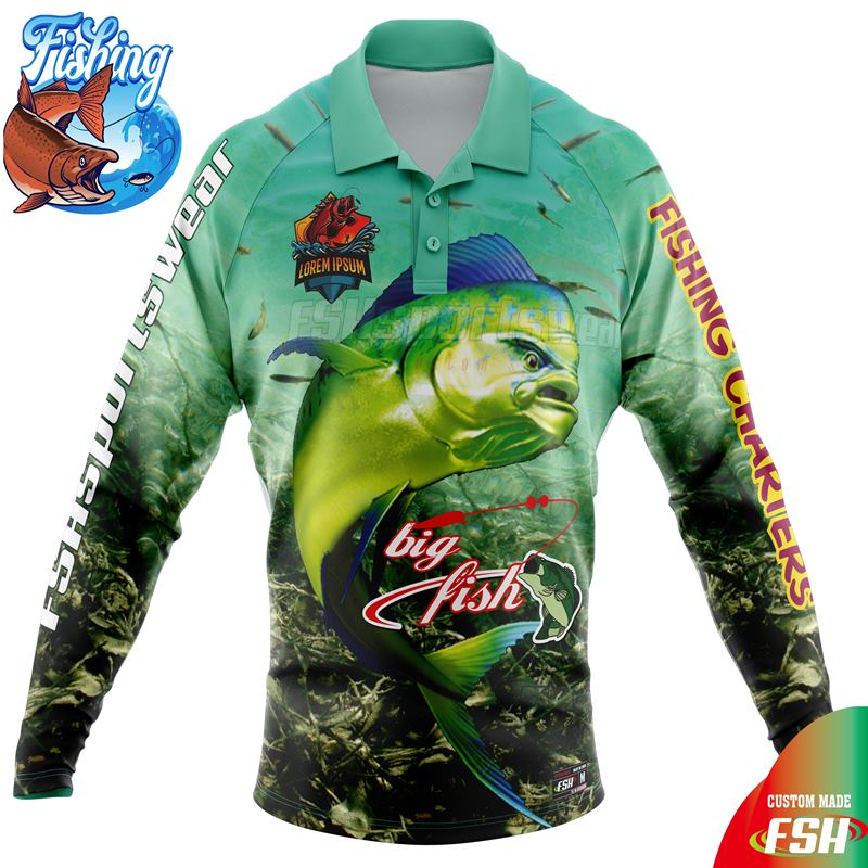 Custom design sublimated fishing jersey