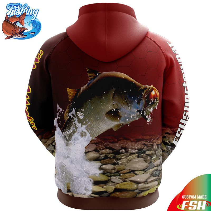 Custom sublimated fishing hoodie fishing jacket